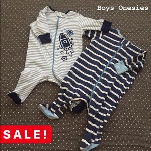 👶🏻 Baby Boy 2pc Onesie Set